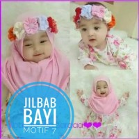 Jilbab Baby Mahkota bunga