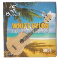 1 Set Senar Gitar Ukulele / Okulele Spock White nylon SU04