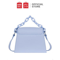 MINISO Tas Selempang Wanita Handbag Rantai Sling Bag Fashion Pesta - Biru