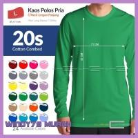 Sale L Kaos Polos Oneck Cotton Combed 20S Tangan Panjang 24 Warna