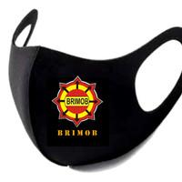 Masker Korea Bahan Kain Scuba Logo Brimob POLRI