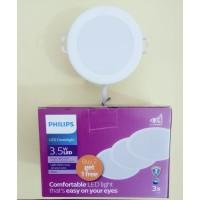 Paket Lampu Philips Downlight LED Meson 59441 3.5watt Beli 2 Gratis 1