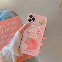 Soft Case Full Cover Shockproof Warna Pink Peach untuk Apple iPhone