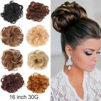 30g 24 Color Messy Bun Hair Extensions Hair Piece Bun Tail Natural