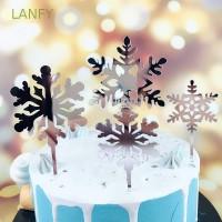 Hiasan Topper Kue dengan Gambar Motif Bernuansa Natal untuk Hiasan