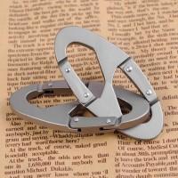 Aluminum Carabiner Snap Clip Hook Keychain Hiking Bottle 8 Shaped
