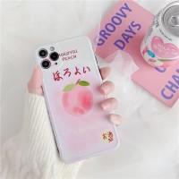 Casing Soft Case Full Cover Shockproof Motif Kartun Peach Warna Pink