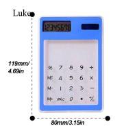 Luke Fashion Portable Transparent Solar Powered Calculator with 8