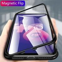 Samsung Galaxy A20 Luxury Flip Magnetic Case Back Glass