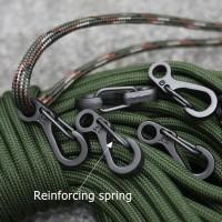 10pcs Mini Carabiner Keychain Outdoor Climbing Spring Buckle Hook