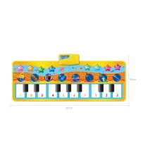 Baby Kids Touch Play Learn Singing Keyboard Music Carpet Mat