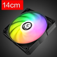 Black RGB Colorful LED Rainbow 14cm Fan for Sync Motherboard ASUS