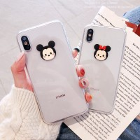 3D Mickey Minnie Transparent Case Samsung A10 A20 A30 A50 A50s A70