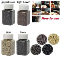 1000 PCS Silicone Micro Links Rings Lined Beads For Hair Extensions