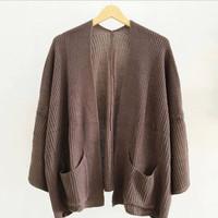 Kardigan loccy knited | cardy basic rajut wanita