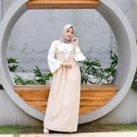 Seoul Set Cream (inner white blouse + outer dress)
