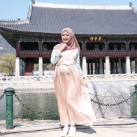 Yooona Blossom Hanbok Maxidress Gold Leaf