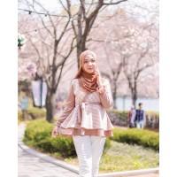 Raissa Batik Etnic Blouse Choco Almond