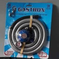 selang gas paket gastron ( selang +regulator gas) free 1 sil regulator