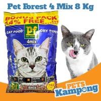 Makanan kucing dewasa kering Pet Forest 4 MIX 8 kg