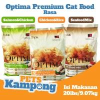 Makanan kucing dewasa kering Optima 9 kg 20lbs