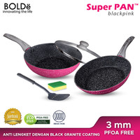 Bolde Super Pan Granite Set 5 PCS BlackPink - Black Pink