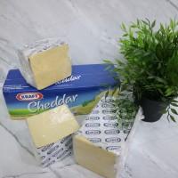 Keju Cheddar Kraft - Kemasan repack 1KG