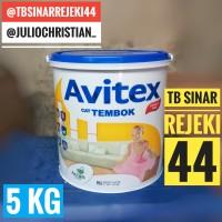 Cat AVITEX 5KG Galon 5 KG Tembok Interior Plafon Dinding Avian Paint - SUPER WHITE