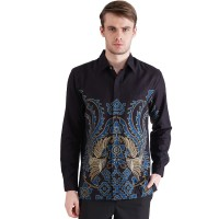 Rianty Giveno Kemeja Batik Lengan Panjang Pria Premium Bahan Dobby