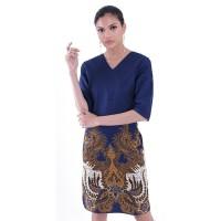 Rianty Dress Batik Wanita Katun Dobby Premium Gasela
