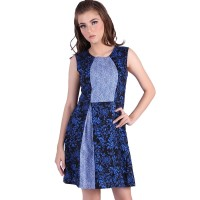 Rianty Dress Batik Wanita Rianty Batik Laurel blue