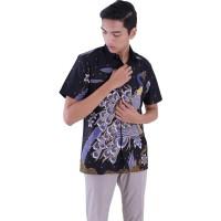 Rianty Batik Hem Pria Lycoris Black | Hem Batik Pria Murah | Hem Batik