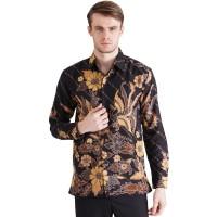 Rianty Brezo Kemeja Batik Lengan Panjang Pria Premium Bahan Dobby