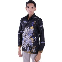 Kemeja Hem Batik Pria Rianty Lycoris Lengan Panjang