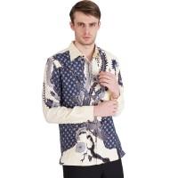 Rianty velano Kemeja Batik Lengan Panjang Pria Premium Bahan Dobby