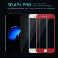 Nillkin 3D AP+ PRO Full Screen Tempered Glass iPhone 7 Plus - Hitam, tempered glass
