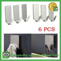 Taffware Gantungan Serba Guna Adhesive 6 PCS - DWC13F - Silver