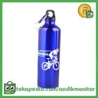 TaffSport Botol Minum Olahraga Aluminium 750ml Dengan Karabiner -