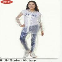 Jas Hujan Transparan Raincity Stelan Setelan Jaket Celana Transparant