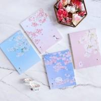 Dear Cherry Blossom Plain Notepad B6 / Buku Catatan B6 / Buku Tulis B6