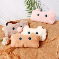 Fuzzy Baby Bunny Fluffy Pencil Case / Tempat Alat Tulis Lucu