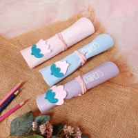 Lovely Flower Roll Up Pencil Case / Tempat Alat Tulis / Tempat Pensil