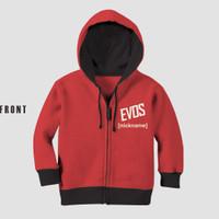 Jaket Anak Free Fire Evos 2 Halus Lembut Tebal Print Bisa Custom - 2-3 tahun
