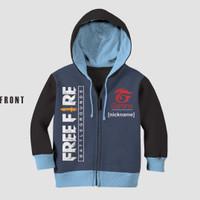 Jaket Anak Free Fire 2 Bahan Halus Lembut Tebal Printing Bisa Custom - 2-3 tahun
