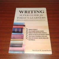 Buku Writing Super Guide for today's learners