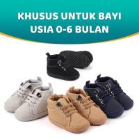 Sepatu Bayi Baru Lahir Prewalker Laki-Laki Khusus Untuk Usia 0-6 Bulan - Cokelat
