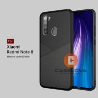 Case Xiaomi Redmi Note 8 Casing Slim Business Leather Pattern
