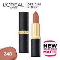 L'Oreal Lipstik Matte Color Riche Matte - Flatter Me Nude