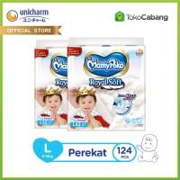 [TokoCabang] MamyPoko Popok Perekat Royal Soft - L 62 - 2 Packs
