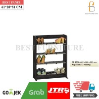 Best Rak Sepatu SR 9350 Minimalis uk61x28x81cm